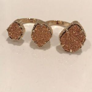 Kendra Scott Druzy Triple Ring - Rose Gold